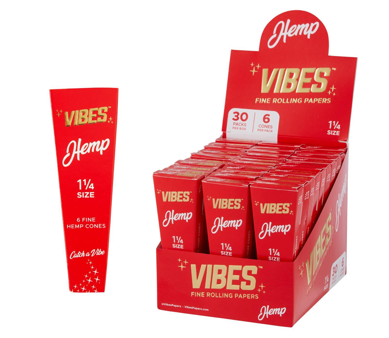 """Vibes Hemp 1 1/4"""" Size Cones"""