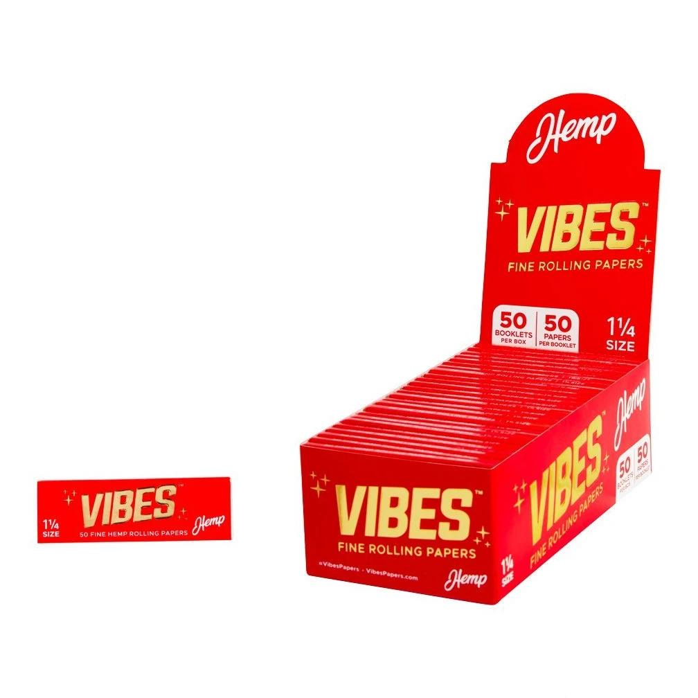 "Vibes Hemp 1 1/4"" Size Rolling Papers"