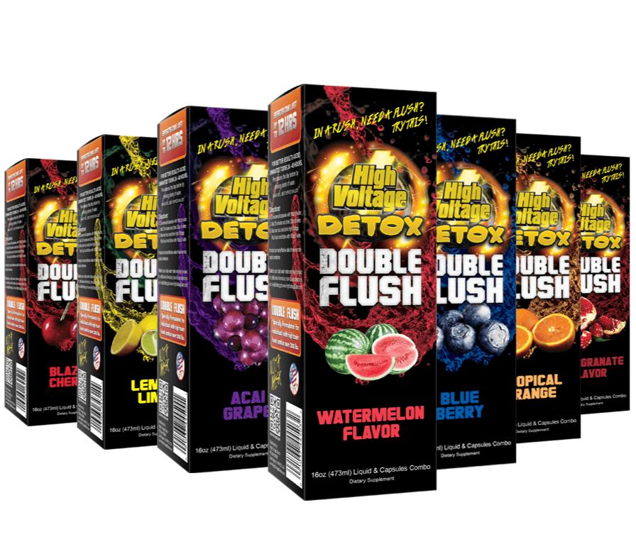 High Voltage Double Flush Detox Drink 16oz.