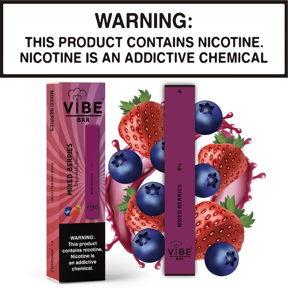 Vibe Bar - Mixed Berries (Disposable Device)
