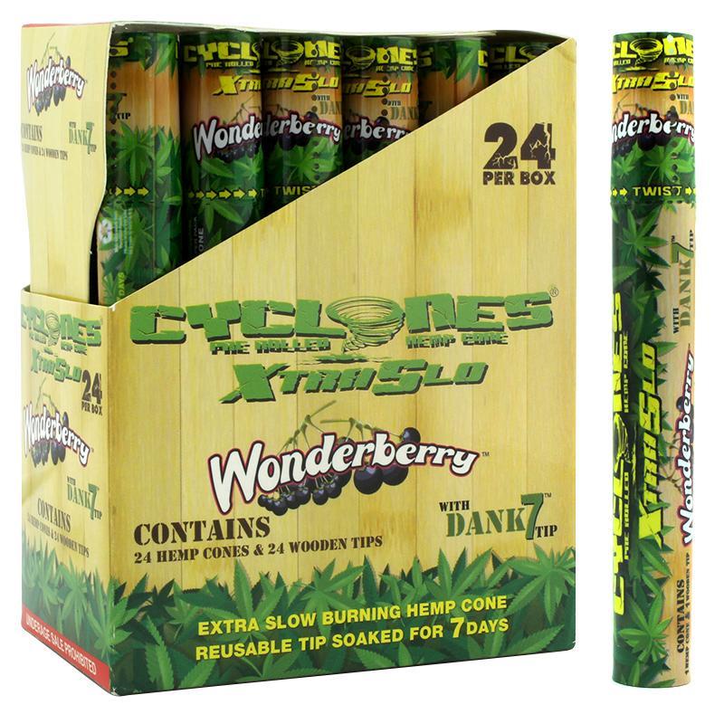 Cyclones Hemp Cone XtraSlo Wonderberry Flavor