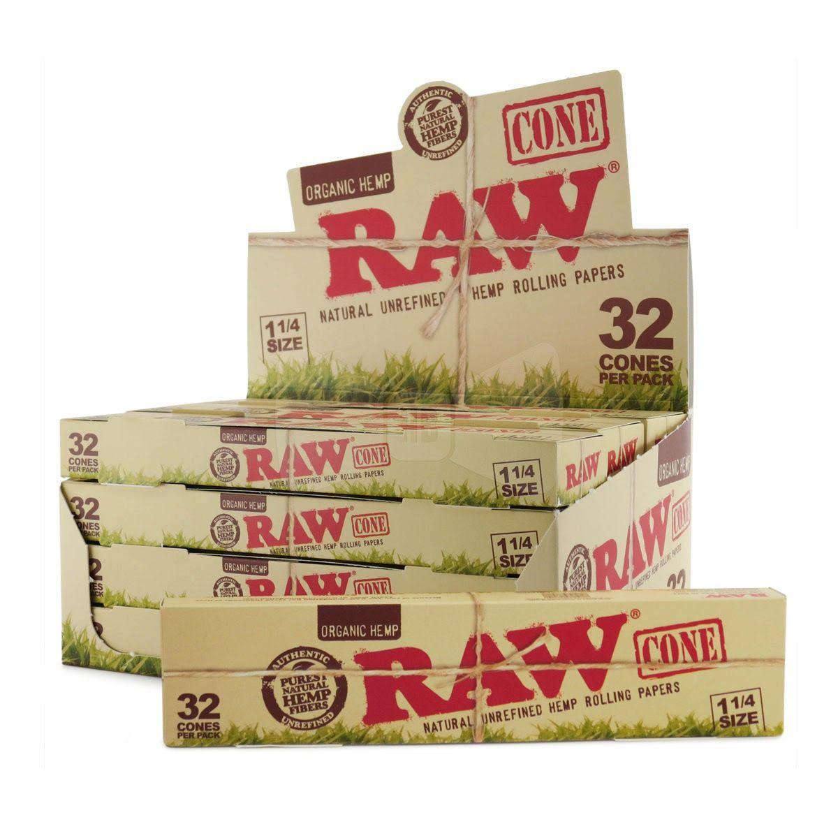 "Raw Organic Classic 1 1/4"" Cone - 12 Packs/Display"