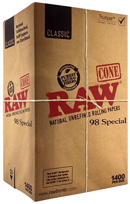 Raw Classic 98 Select Pre-Rolled Cone - 1400ct./Display