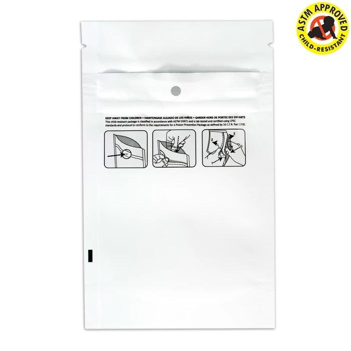 Child Proof Mylar Bags 1/4 oz. (50 Pack)