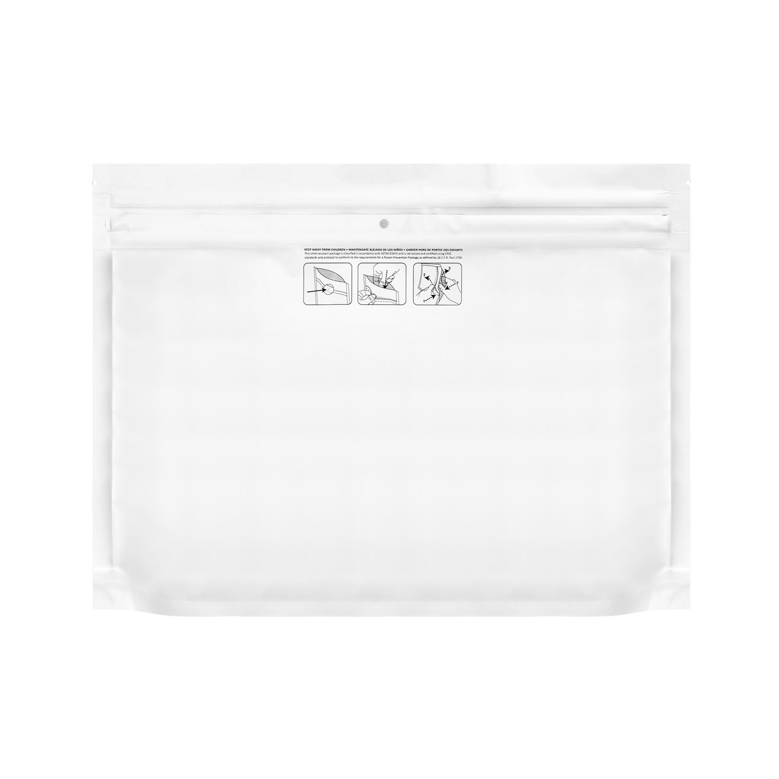 Child Proof Mylar Bags Extra Large (50 Pack)