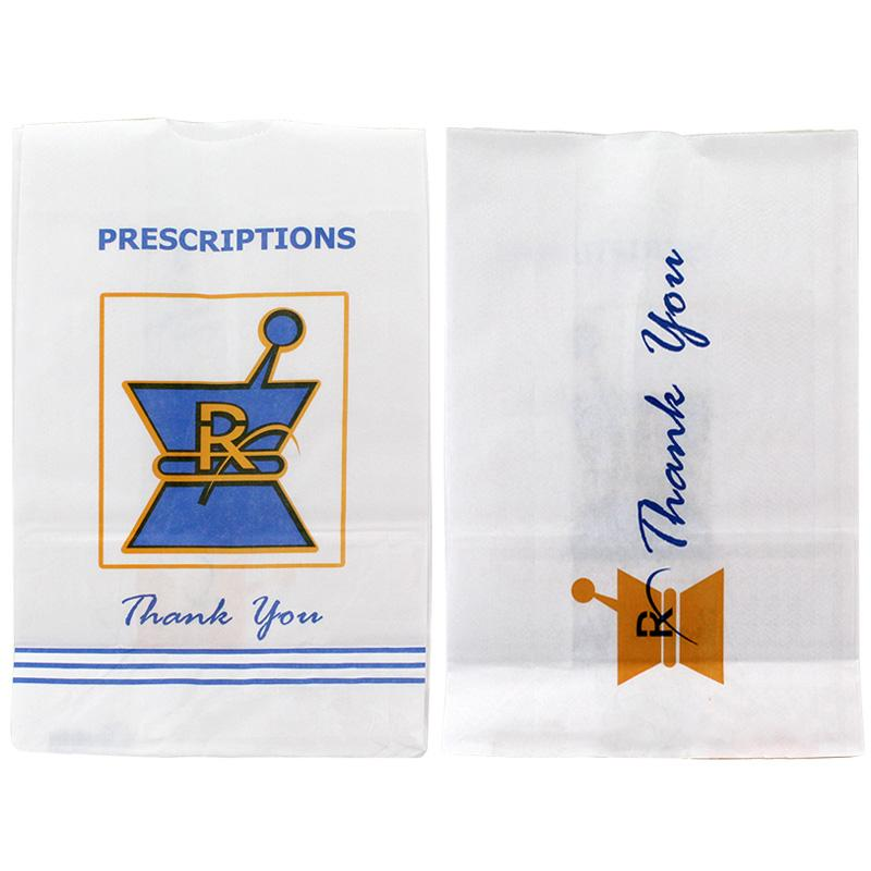 RX Pharmacy Paper Bags Large