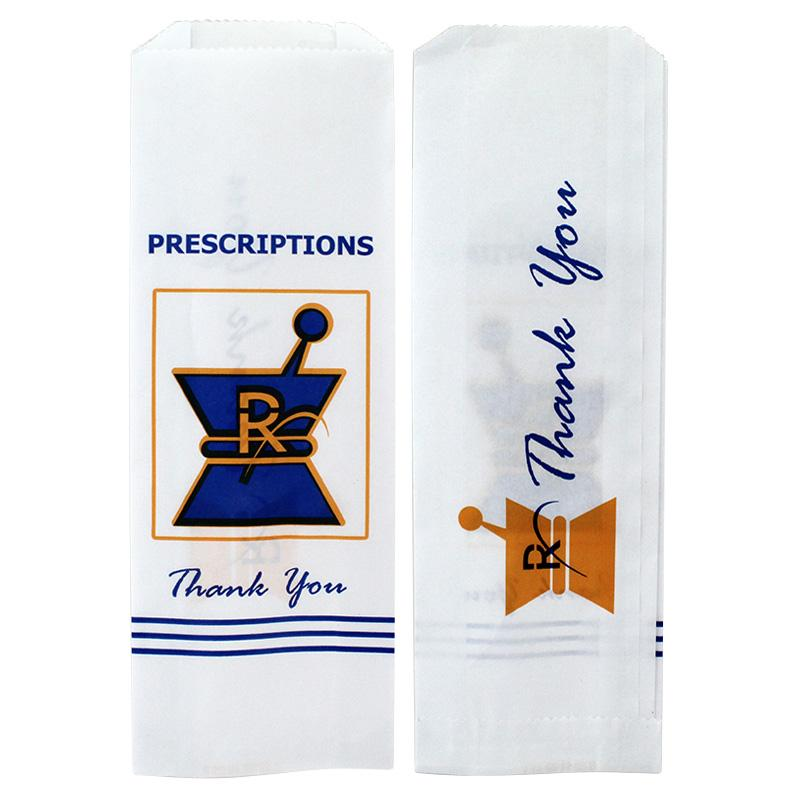 RX Pharmacy Paper Bags Small