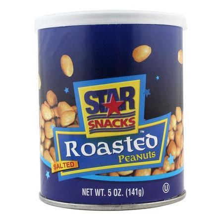 Star Snacks Roasted Peanuts Safe Can