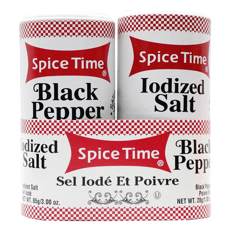 Spice Time Salt & Pepper Safe Can