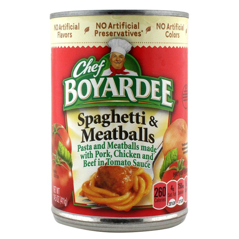 Chef Boyardee Spaghetti & Meatballs Safe Can