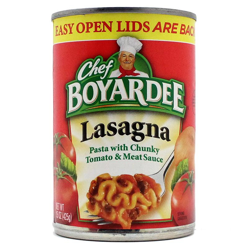 Chef Boyardee Lasagna Safe Can