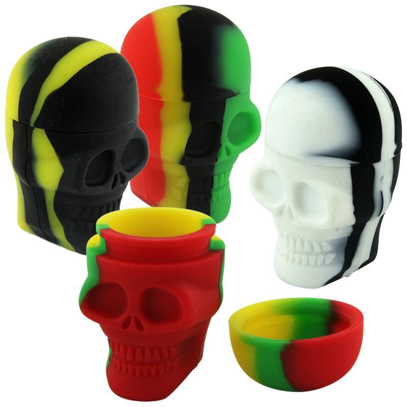15ml Skull Silicone Jar
