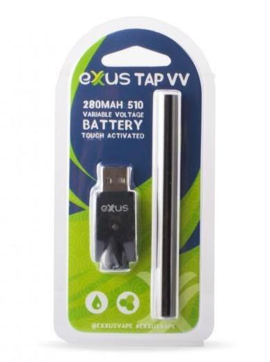 Exxus Tap VV Battery and Charger Blister Pack