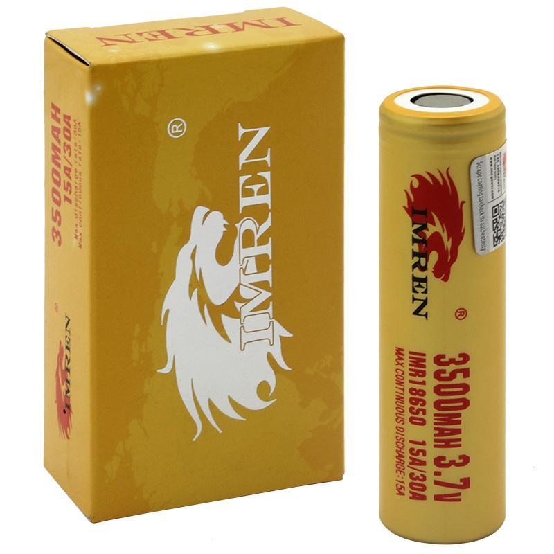 IMREN 3500mAh 18650 Battery 2-Pack