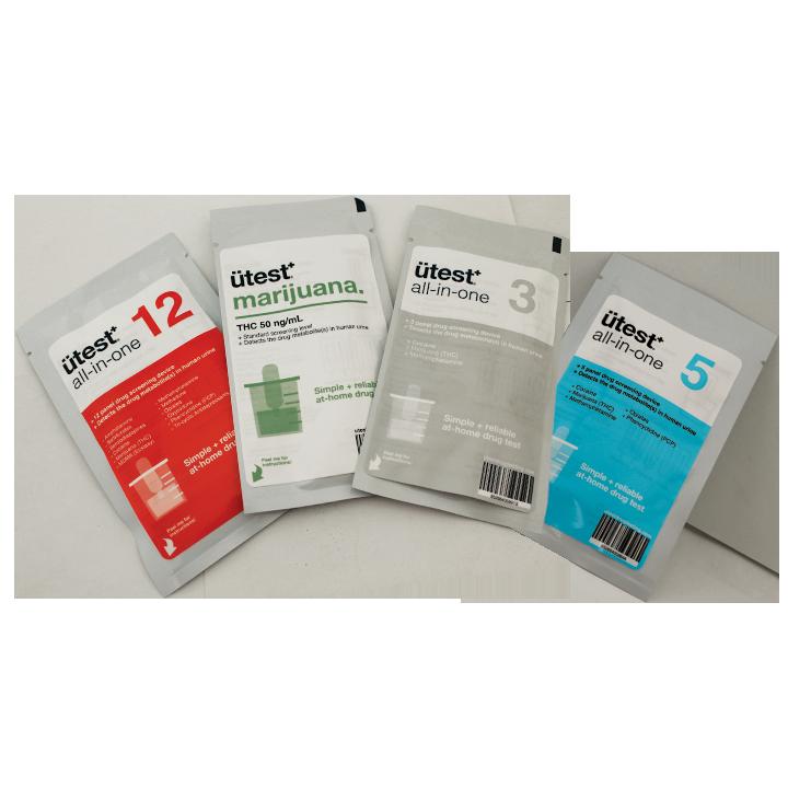 5 Panel Drug Test Kit U-test - THC, Cocaine, Methamphetamine, Op