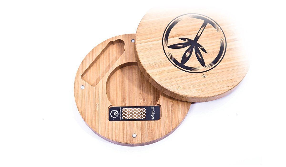 World Piece Bamboo Rolling Tray - RIP MINI