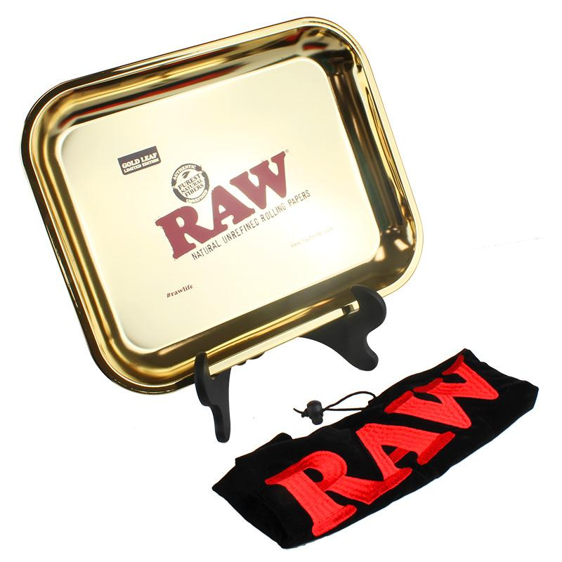 Raw Gold Leaf Extra Large Metal Rolling Tray