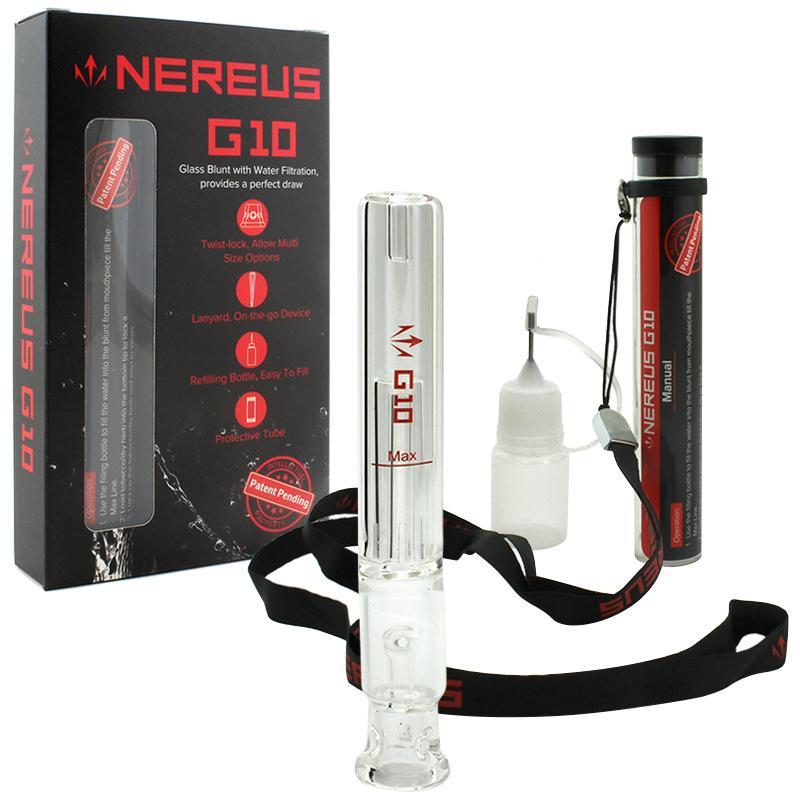 """4.5"""" Atman Nereus G10 Glass Blunt Bubbler"""
