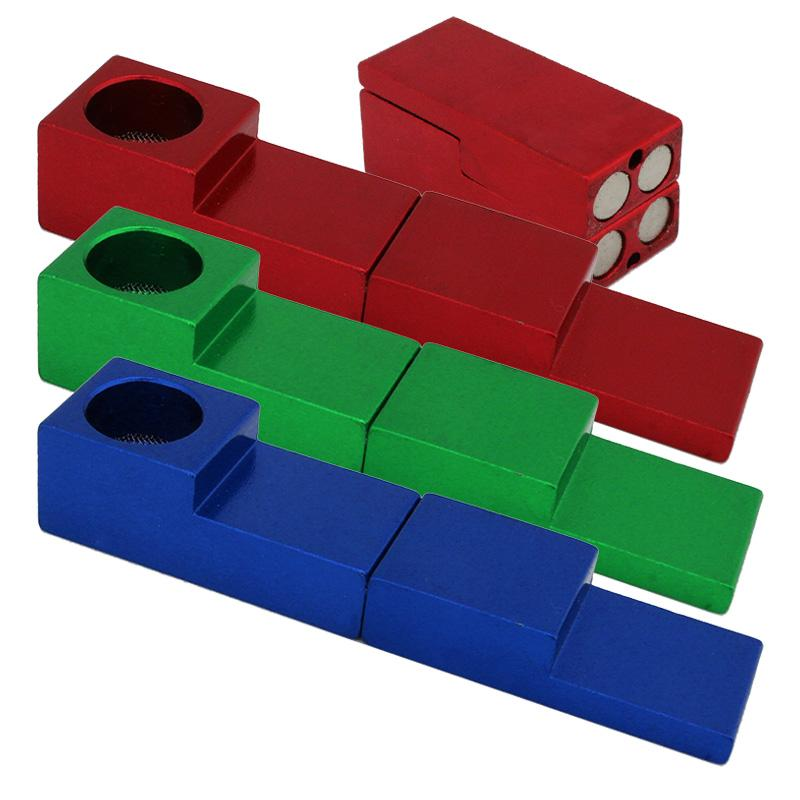 """3"""" Magnetic Cube Metal Hand Pipe"""