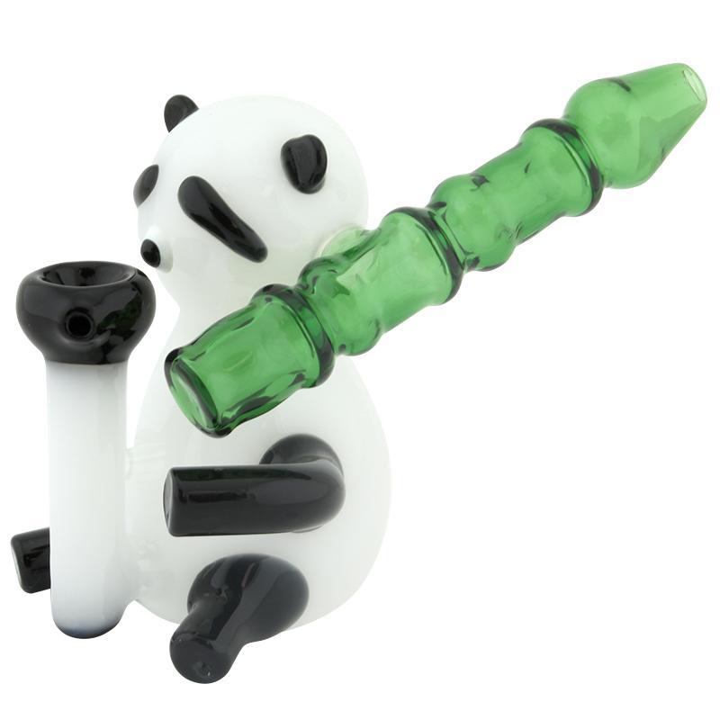 """6"""" Panda Glass Hand Pipe Bubbler"""