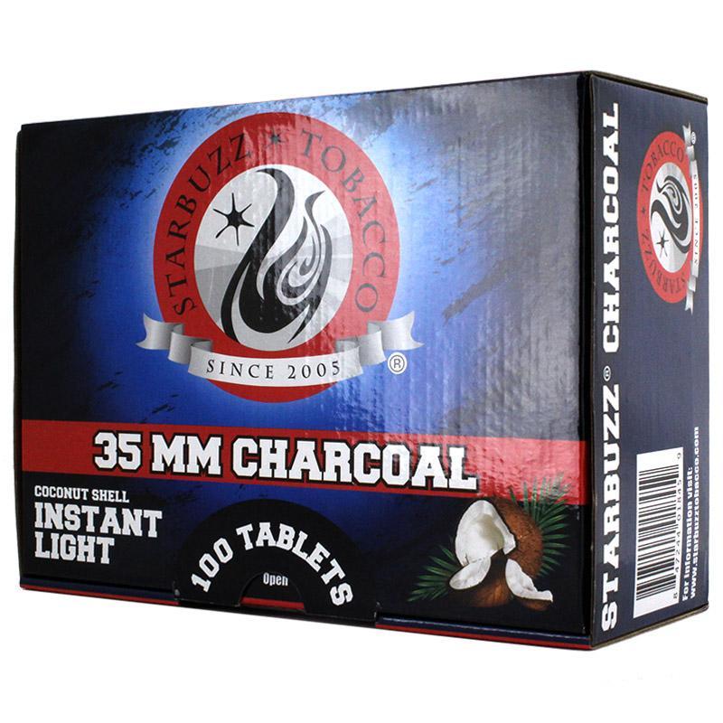 Starbuzz Instant Light 35mm Hookah Charcoal 100 Pcs