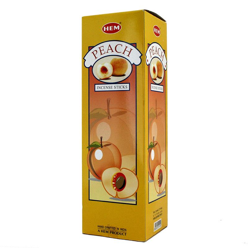 Hem Peach Incense Sticks 120 Box