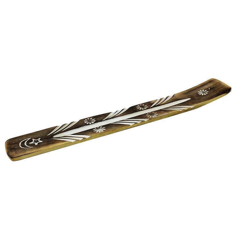 Engraved Wooden Incense Holder