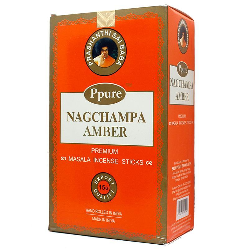 Ppure Nag Champa Amber 15g Incense