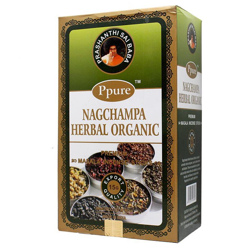Ppure NagChampa Herbal Organic 15g Incense