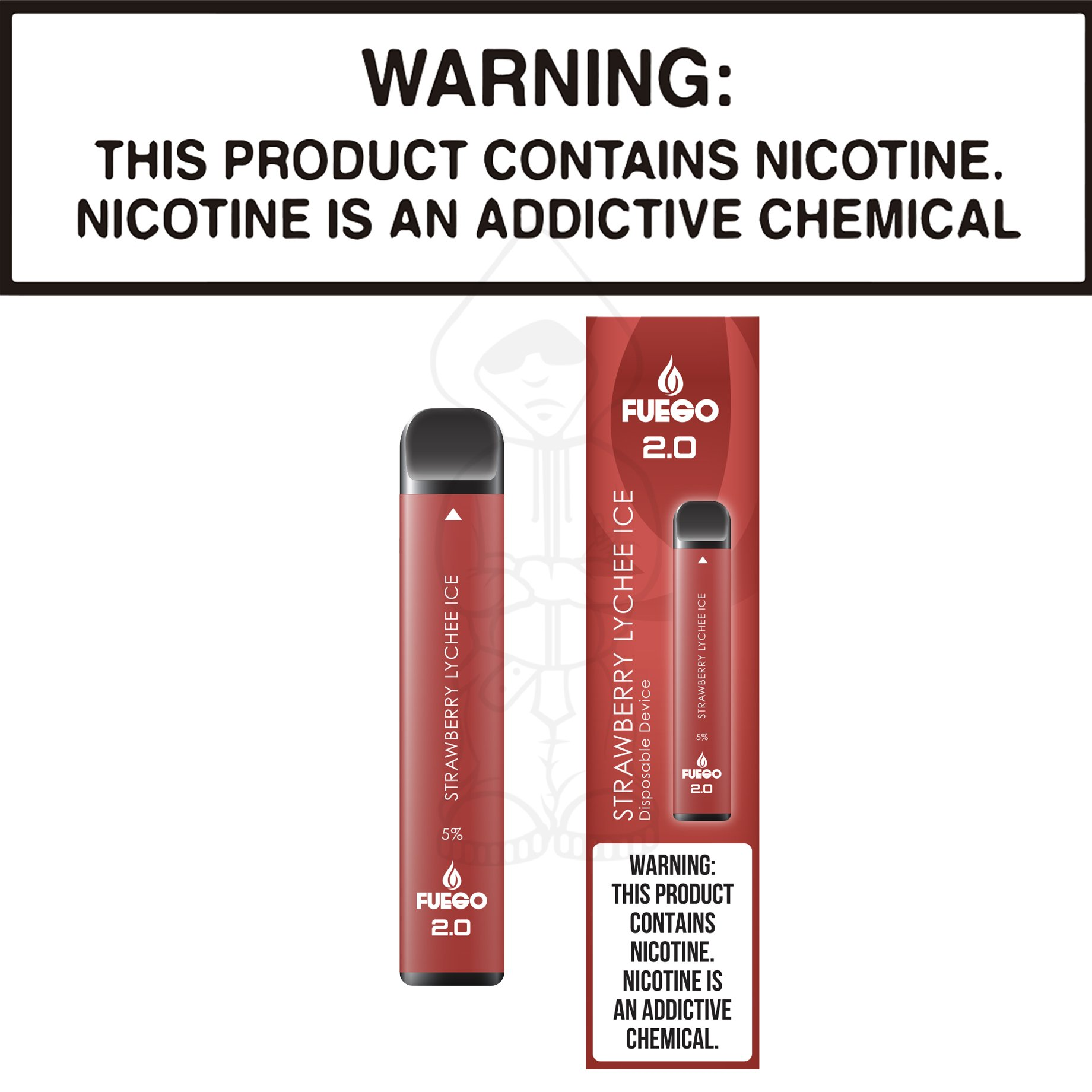 Fuego Stix 2.0 - Strawberry Lychee Ice (Disposable Device)