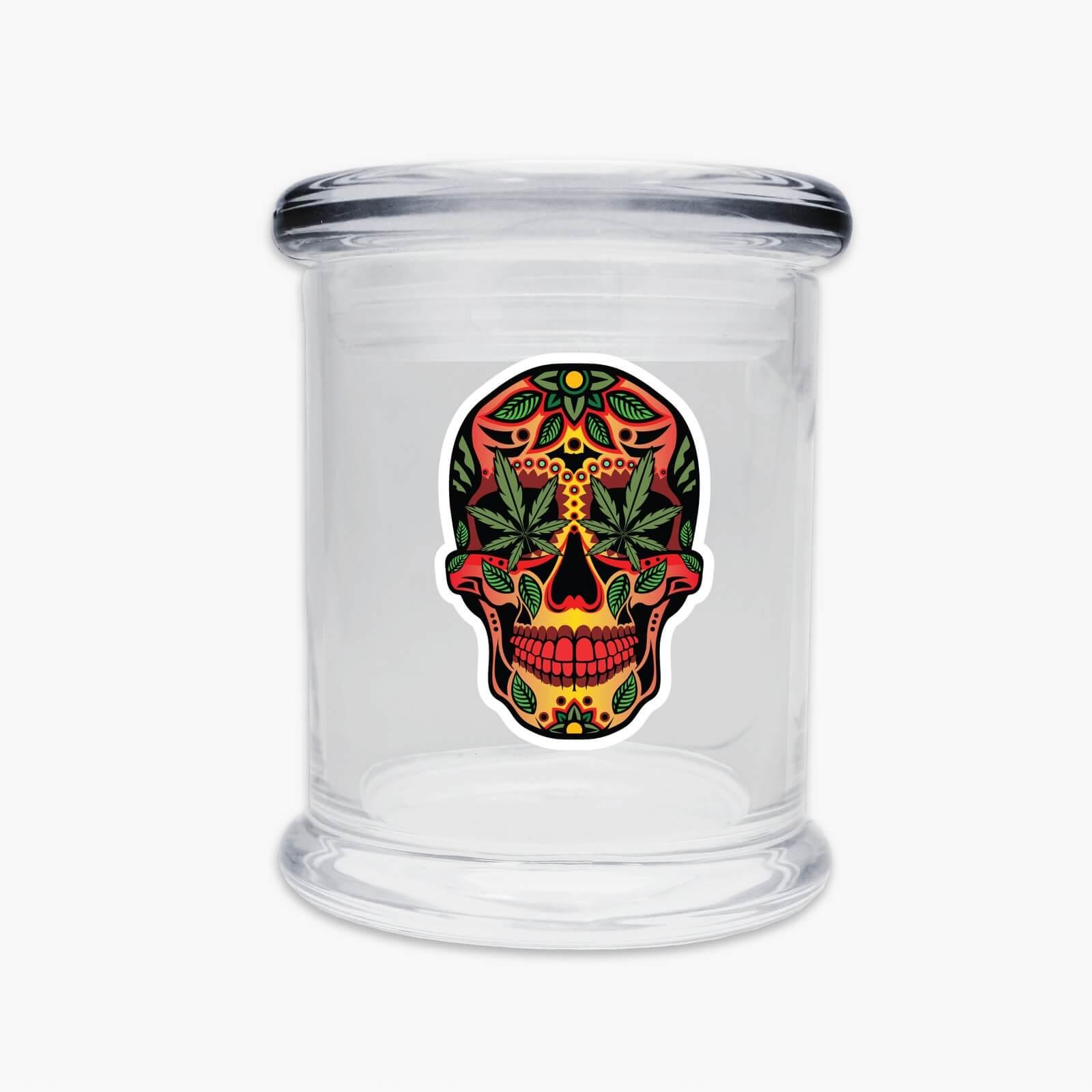 Juggz Skull Glass Jar