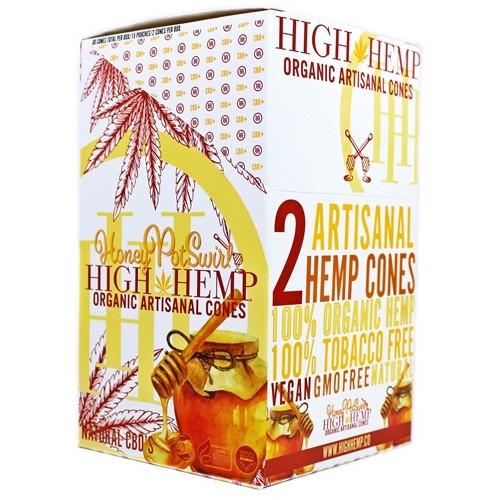 High Hemp Honey Pot Swirls Cones