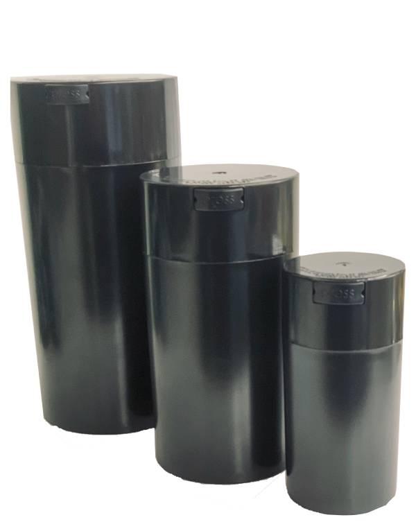 Black Acrylic Air Tight XL 3 in 1 Jar