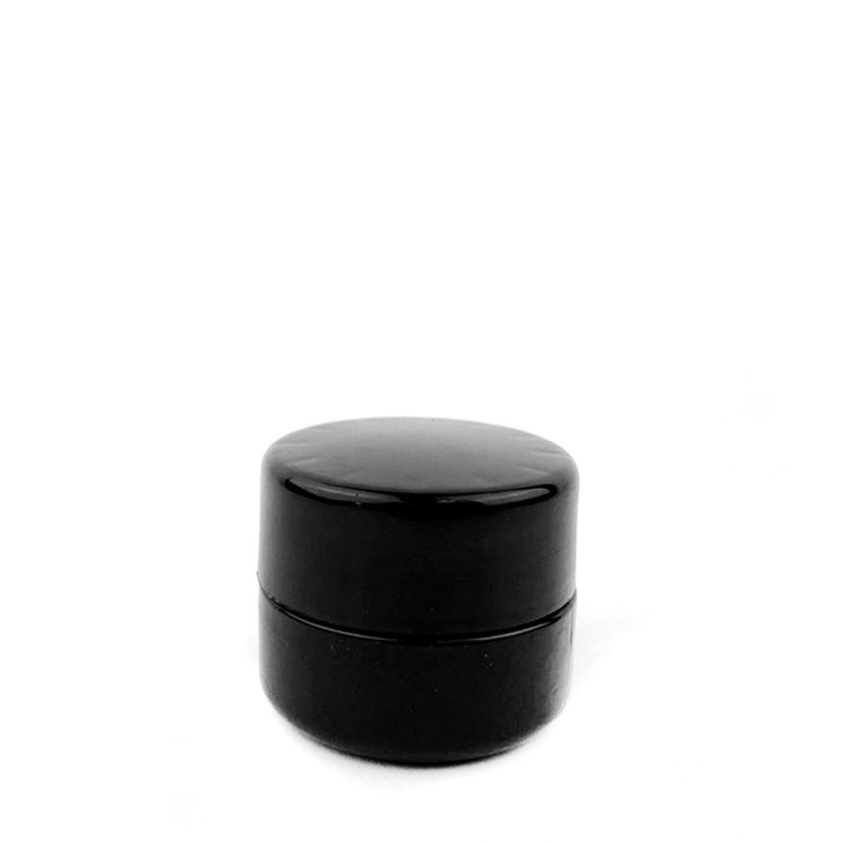5mL Black UV Glass Child Resistant Jar Container