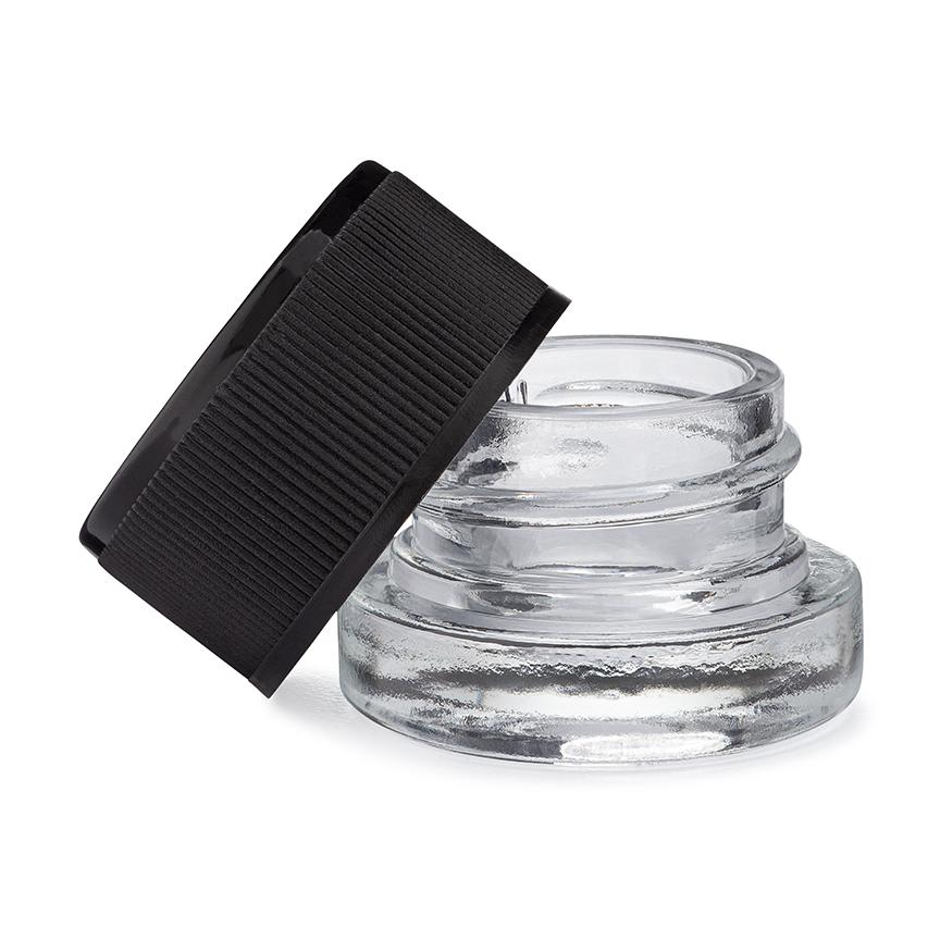 5mL Clear Glass Child Resistant Jar Container