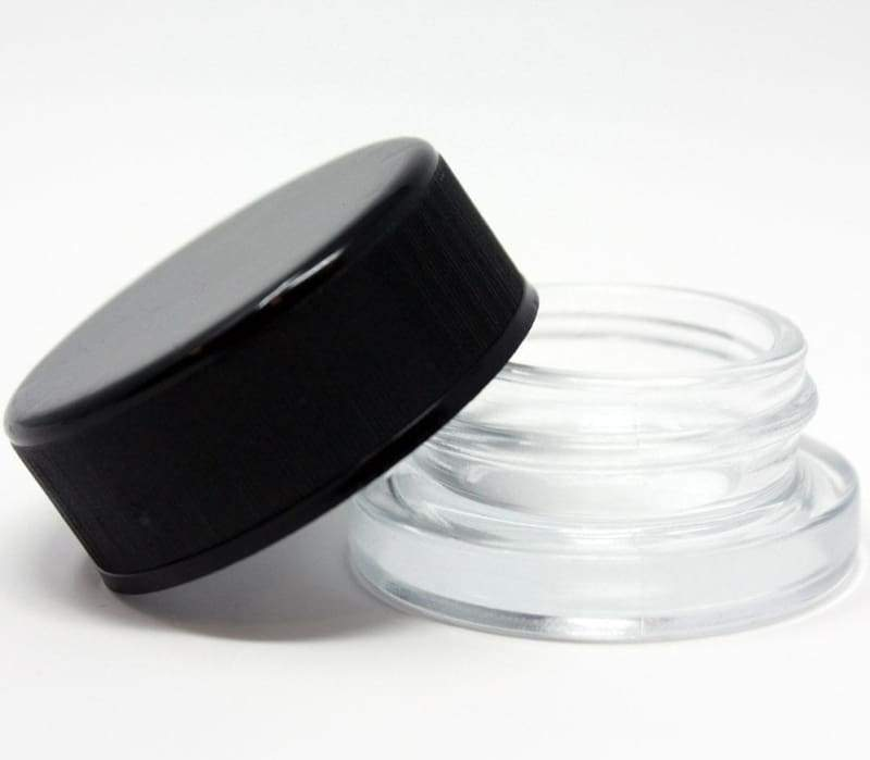 9mL Clear Glass Child Resistant Jar Container