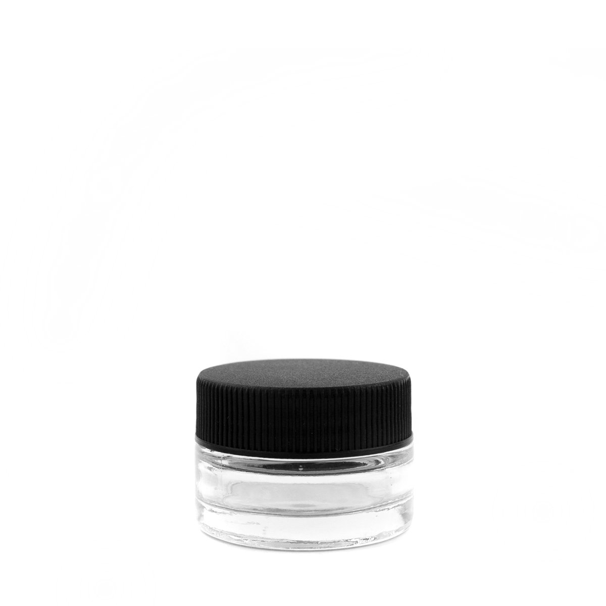 7mL Black Plastic Top Clear Glass Jar Container