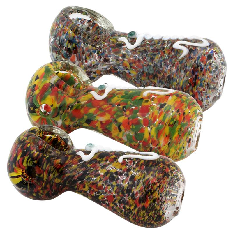 "3.5"" Frit Glass Hand Pipe"