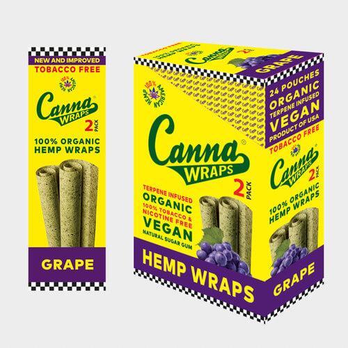 Canna Wraps Grape - 24ct