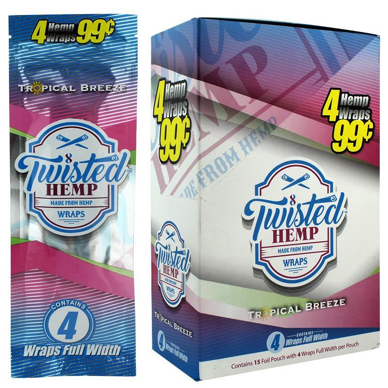 Twisted Hemp Wrap Tropical Breeze Flavor