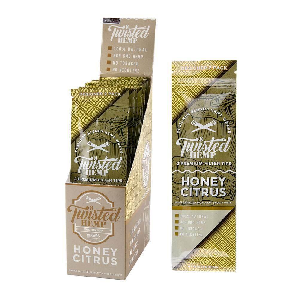 Twisted Premium Hemp Wrap Honey Citrus