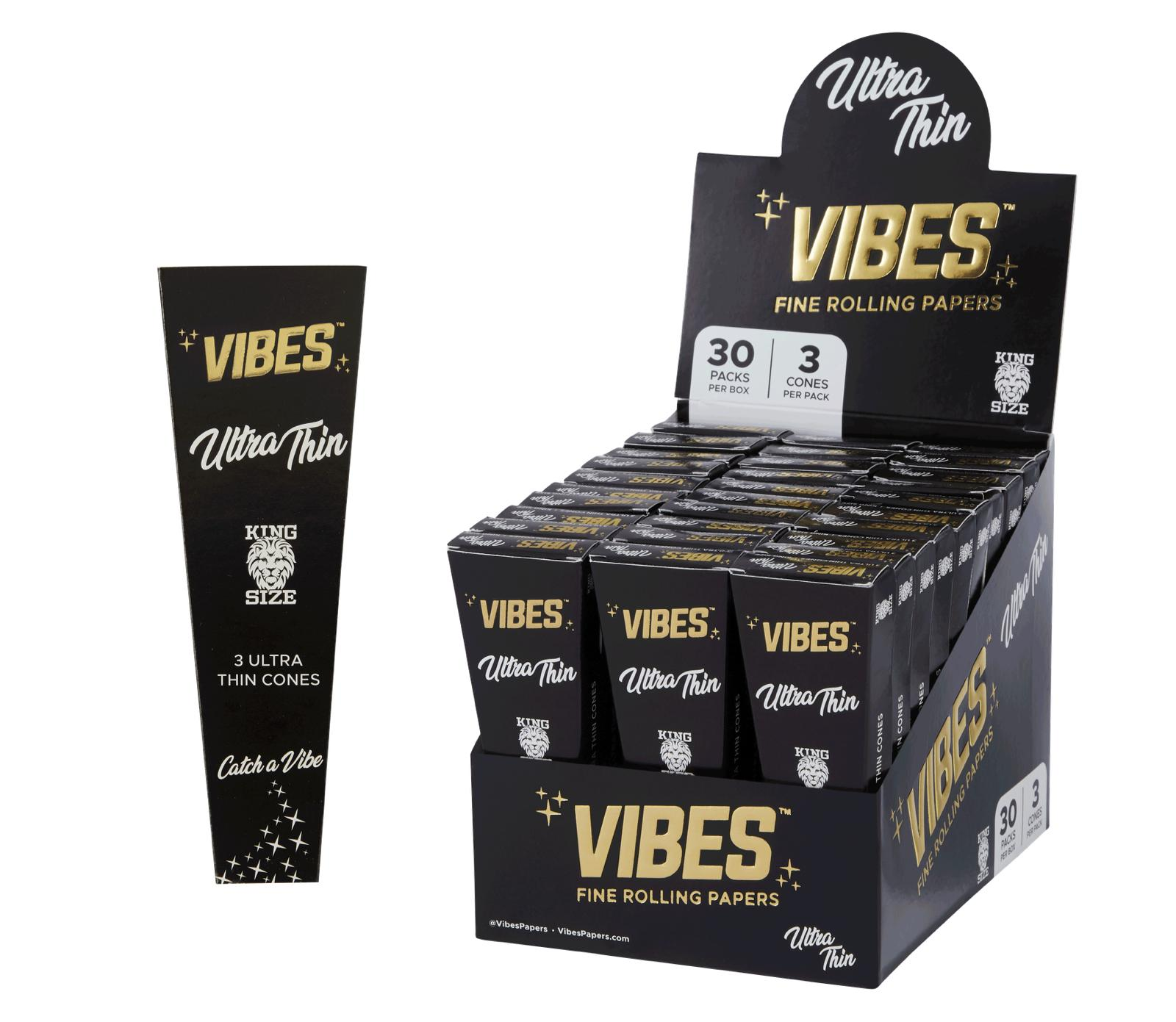 Vibes Ultra Thin King Size Cones