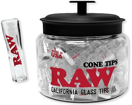 Raw California Glass Cone Tips Jar 75ct