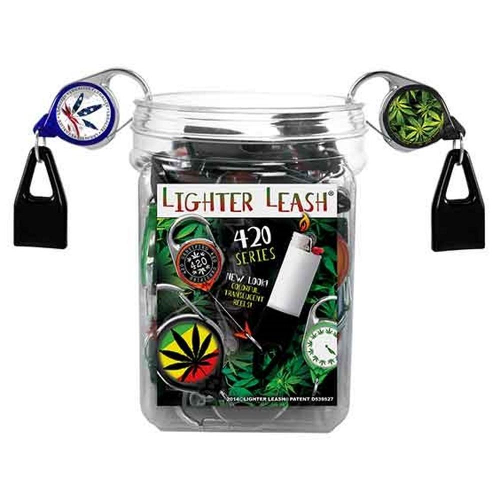 Premium Lighter Leash Jar 420 Edition